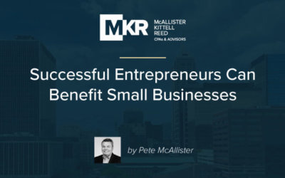 Successful Entrepreneurs Can Benefit Small Businesses