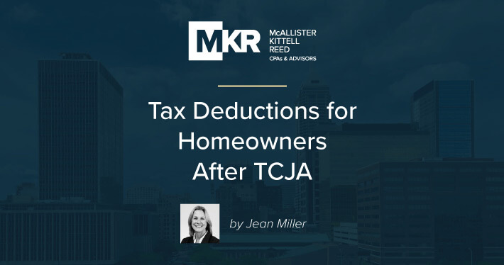 Tax Deductions for Homeowners After TCJA