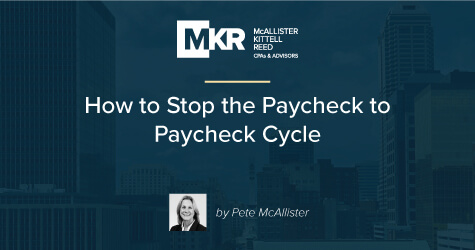 How to Stop the Paycheck to Paycheck Cycle