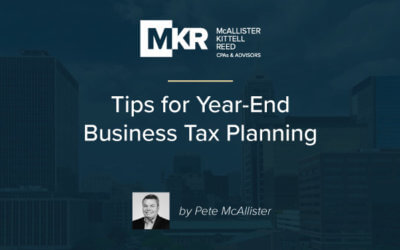 Tips for Year-End Business Tax Planning