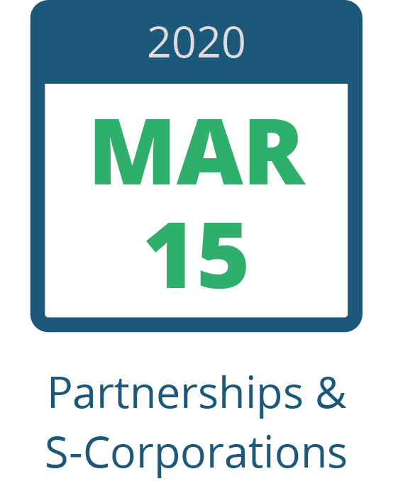 March 15 – Partnership and S-Corp