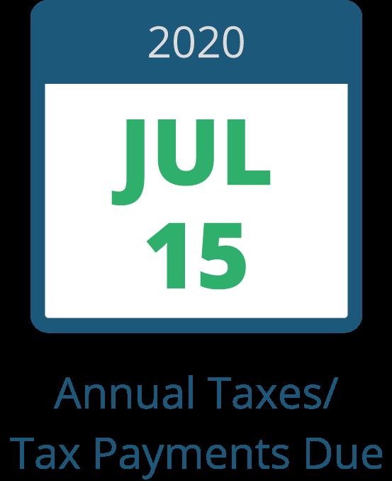 July 15 – Individual Taxes Due