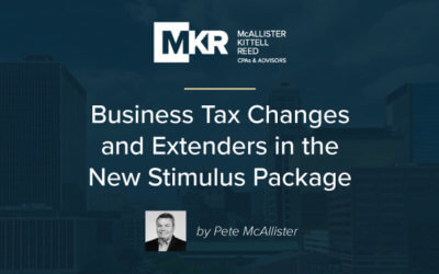 Business Tax Changes and Extenders in the New Stimulus Package